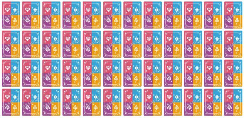 50枚セット画像:【スリーブ】コラボスターター「アイカツ!始まりの学園」に封入される限定スリーブのデザインが公開!